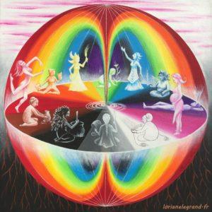cercle de femmes, Loriane Le Grand, féminin, femmes, arc en ciel, artiste